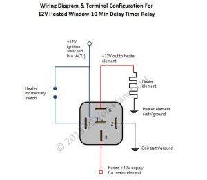 12V Universal Window Heater Timer Relay   12 Volt Pla